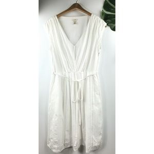 J. Crew eyelet summer dress white fully lined 4